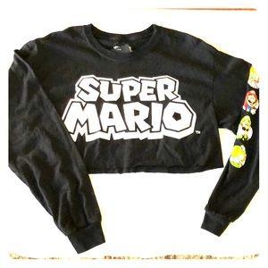 Super Mario crop top black forever 21